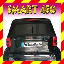 """MCC Smart For2 Cabrio Heckscheibe """"SCHWARZ"""" Cabrioscheibe Rear Window black"""