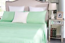 Easy Care Mint Single/Double/Queen/King Bed Sheet Set Fitted Flat 4 or 3 Pieces