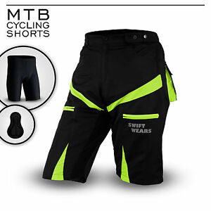 Mountain Bike CoolMax Padded Shorts Inner Lycra Liner MTB Cycling Shorts