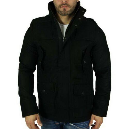 Open VINTAGE 10 Cappotto Corto Style Zip Inverno Giacca Nero S-M-L-XL