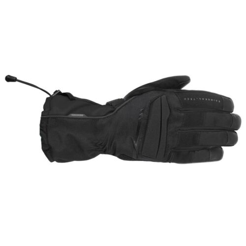 Oxford Convoy Mens Leather Textile Motorcycle Motorbike Gloves Stealth Black