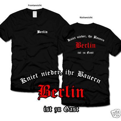 BERLIN * Kniet nieder * Fan-T-Shirt * Ultras * S-XL