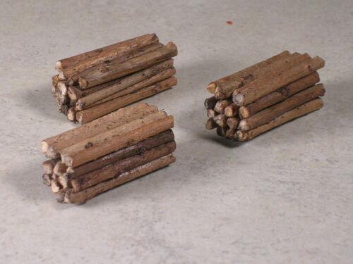 Type #3 N Scale Custom realistic real wood log loads for Micro Trains Log Car