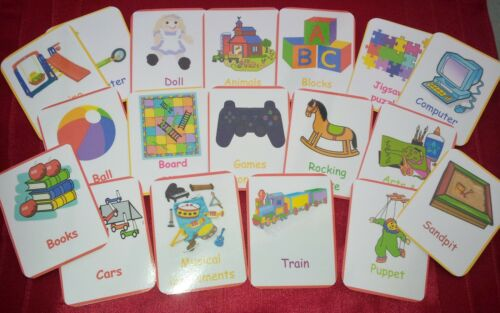 CHILDMINDER TOY ROOM FUN HOME USE 24 FLASH CARDS BABY TODDLER TOYS