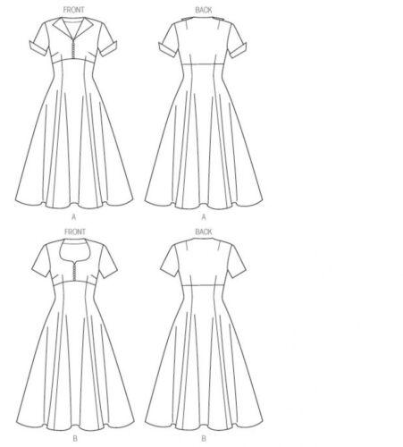Butterick - 6018-M Butterick Damas patrón de costura vestidos de estilo vintage 6018