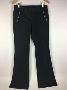 Theory Denim Tall Nero Loralyn Low Rise Flare Jeans 30 X 35 Taglia Dark Donna rrqn8Pv