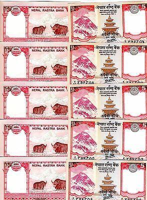 2012-2017 Rastra Bank P-New SET Nepal UNC Everest Animals 5;10;20 Rupees