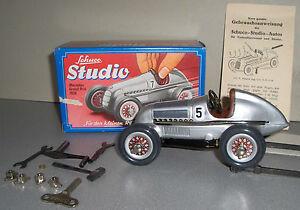 """Schuco Studio 1050 Mercedes """"us-zone"""" 1982-1984 Silber Mit Allem Zubehör Gefertigt Nach 1970"""