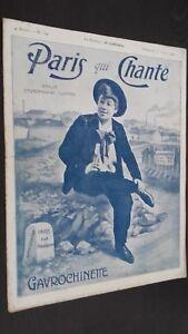 Rivista Settimanale per Lettera Parigi Che Canta N°182 Juillet 1906 ABE