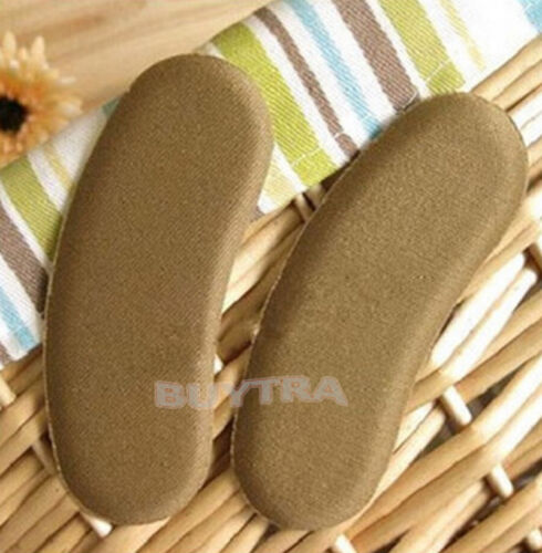 Popular Sticky Fabric Shoe Heel Inserts Insoles Pads Cushion Grip Protector RS