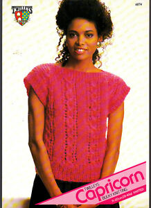 Twilley-Knitting-Pattern-Ladies-Slipover-6874-28-40in