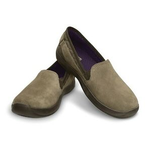 AnyWeather-Suede-Loafer-Khaki-W5-Crocs