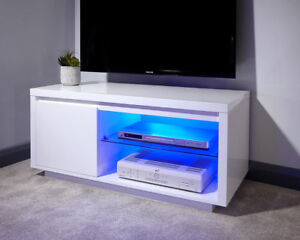 Image Is Loading Polar Modern White High Gloss Tv Entertainment Unit