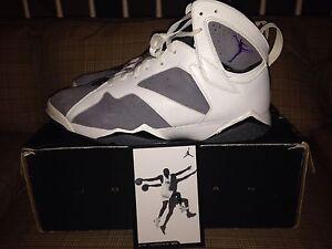 27c890fad3eb Nike Air Jordan 7 Retro Varsity Purple Flint Grey Basketball Shoes ...