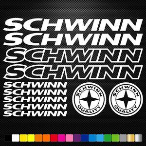 Schwinn-11-Stickers-Autocollants-Adhesifs-Vtt-Velo-Mountain-Bike-Dh-Freeride