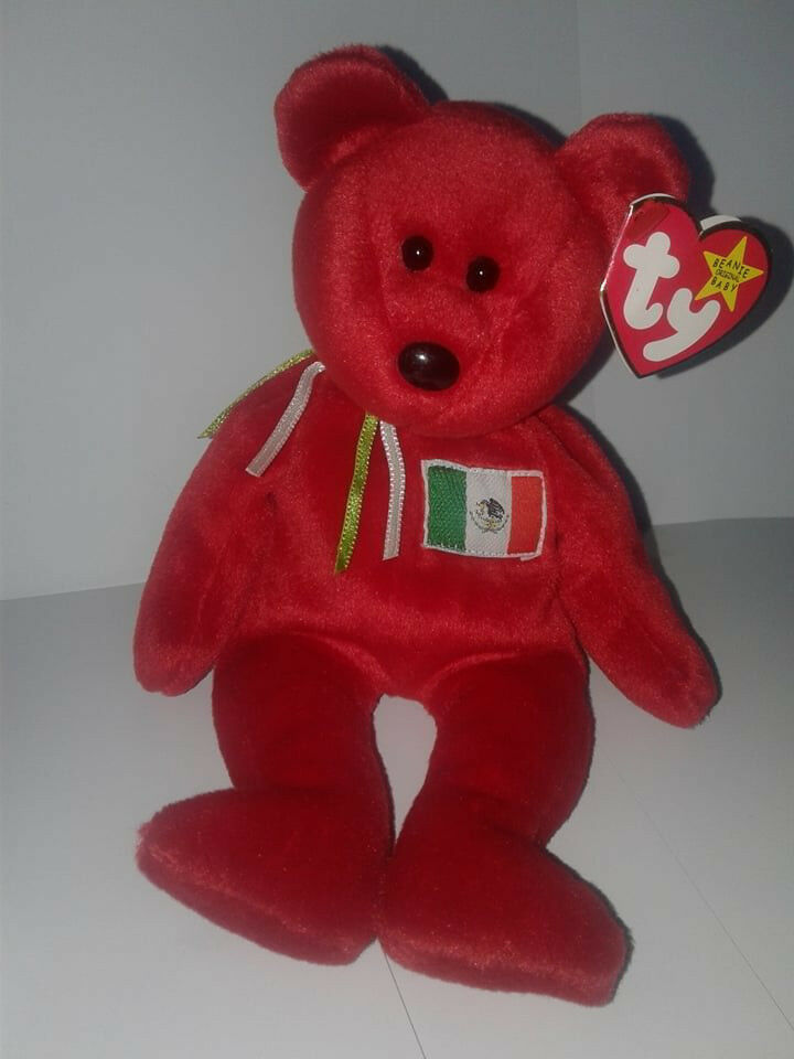TY Beanie Baby Osito the Bear NO STAMP, NO NUMBER on Tush Tag