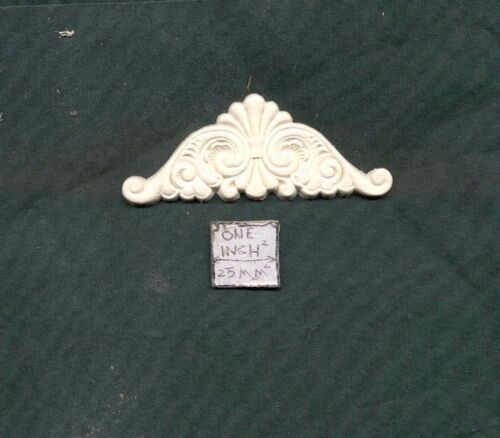 Door Pediment Header UMT11   dollhouse miniatures 1//12 scale polyresin Trim