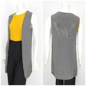 Womens-Zadig-amp-Voltaire-Dublino-Bis-100-Cashmere-Vest-Jumper-Cardigan-Size-M