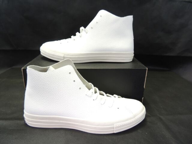 Converse Mens Chuck Taylor All Star Prime High Top White Leather 154837c  Size 11 5b5a7f164