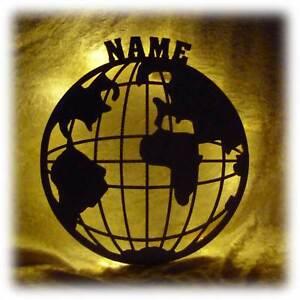 Led Deko Globus Beleuchtet Lampe Mit Name Erwachsene Arbeitszimmer