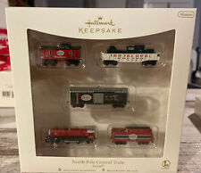 North Pole Central Train Lionel Ornament Set 2007 Hallmark Keepsake NEW