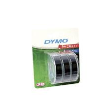 Dymo Embosser Tape 9mm x 3m White/Black 3 Pack S0847730