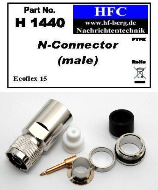 1 Stück N-Stecker für Ecoflex 15 Koaxkabel - 50 Ω (H1440)