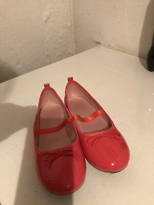 Lackballerinas Gr 33 Flamingofarben H&M 2 Mal getragen