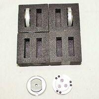 4x Wechselteller Für Zeiss Messkopf St/st3 - 44 Mm - M5 - Unbenutzt
