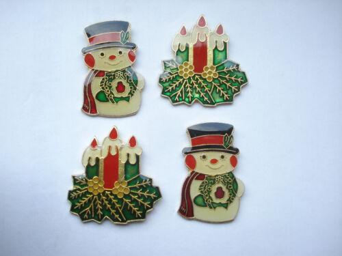 CHRISTMAS SNOWMAN XMAS CANDLES SURPRISE SECRET SANTA NEW PIN BADGE JOB LOT