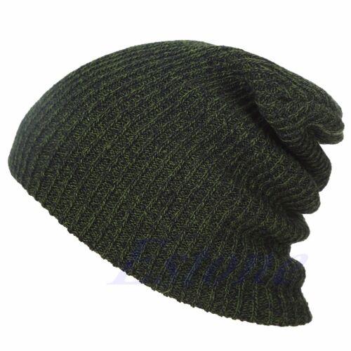 Men Women Knit Baggy Beanie Winter Hat Ski Slouchy Chic Knitted Cap Unisex Skull