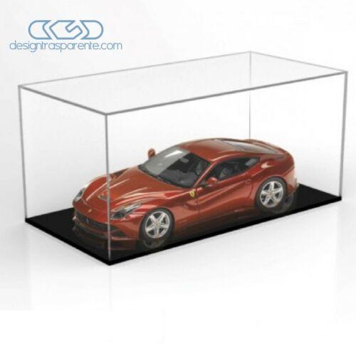 Teca 65x45 H variabile Vetrina in plexiglass trasparente per Modellismo e Lego