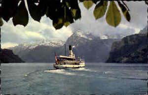 Schiff-Dampfer-Ship-Steamer-Switzerland-Schweiz-Vierwaldstaettersee-Binnenschiff