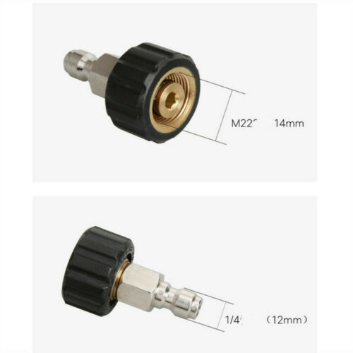 5 Pieces Brass M22 Quick Release Connector to 1//4 Male Adapter Coupling