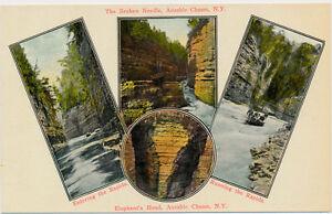 AUSABLE-CHASM-NY-Four-Scenes-Adirondack-Mountains