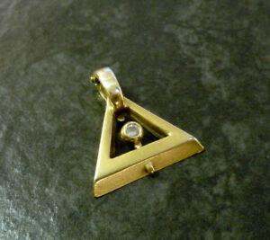 Goldanhaenger-mit-Diamant-585er-Gelbgold-2-3-cm-14-Karat-GG-0-08-ct-Brillant-Gold