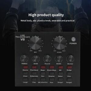 V8 Scheda Audio Live Del Mixer Regolabile Per PC Con Dal Vivo E Microfono