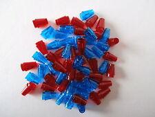 LEGO  60 konisch / kegel 1er Bausteine 64288 in transparent blau und rot  NEU