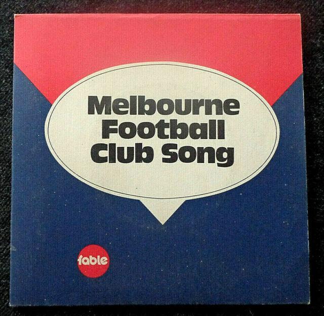"AFL / VFL Melbourne Football Club Song - 7"" Vinyl AUS 1972 FABLE Singers"
