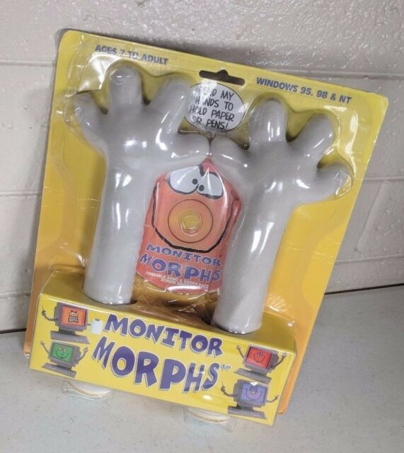 Monitor Morphs Arms Computer Screen Saver Funny Faces Gag Gift Silly Goofy Fun for sale online | eBay