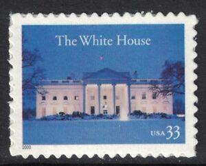 Scott-3445-il-Bianco-Casa-Iluminated-MNH-S-un-33c-2000-Non-Usato-Mint