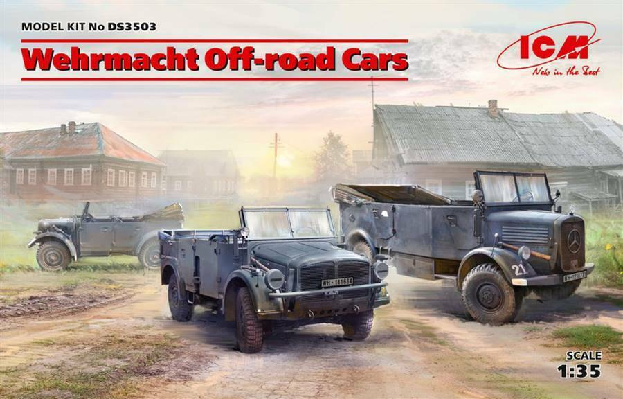 ICM 1 35 Wehrmacht Off-Road Cars    3503  DS3503 sEALEDNew Release 63c