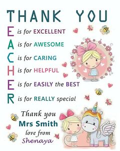 Thank you Personalised A5 card for Teacher Teaching Assistant Brand New - Stoke-on-Trent, United Kingdom - Thank you Personalised A5 card for Teacher Teaching Assistant Brand New - Stoke-on-Trent, United Kingdom