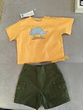 NWT Baby Boy Gymboree Green Yellow Shirt Shorts Set  3-6 Month Dinosaur