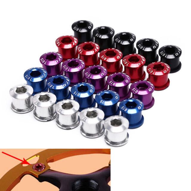 5pcs 7075 t6 alloy cnc chain ring wheel bolt bicycle disc screws for crankset