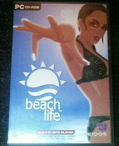 Beach-Life-PC-CD-Rom-Video-Game-Eidos-Deep-Red-2002-Windows-Very-Rare-Simulation