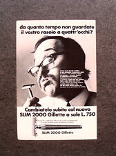 [GCG] M690 - Advertising Pubblicità - 1969 - GILLETTE SLIM 2000