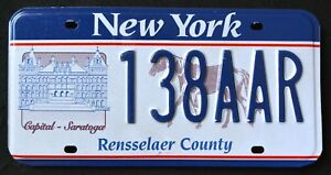 NEW-YORK-034-CAPITAL-SARATOGA-HORSE-RENESSELARE-034-NY-Specialty-License-Plate