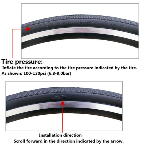 1PC Foldable Tires Maxxis 700*23//25C Puncture Resistant Tyre for Road Bike Black