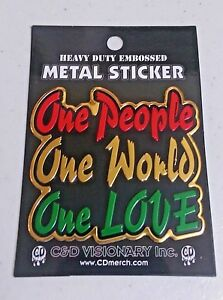 One People One World one Love Decal Sticker